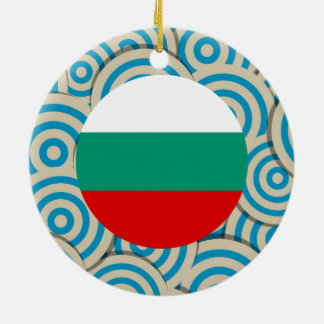 Fun Filled, Round flag of Bulgaria Double-Sided Ceramic Round Christmas Ornament