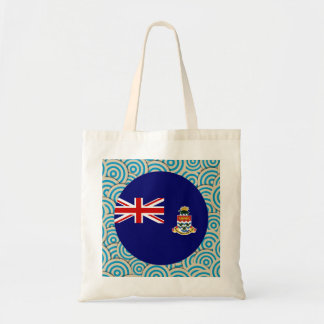 Fun Filled, Round flag of Cayman Islands Budget Tote Bag