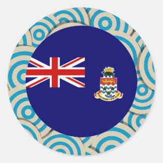 Fun Filled, Round flag of Cayman Islands Classic Round Sticker