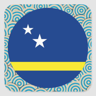 Fun Filled, Round flag of Curacao Square Sticker