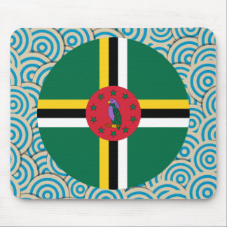 Fun Filled, Round flag of Dominica Mouse Pad