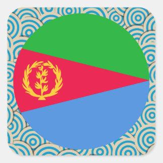 Fun Filled, Round flag of Eritrea Square Sticker