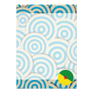 """Fun Filled, Round flag of French Guiana 5"""" X 7"""" Invitation Card"""