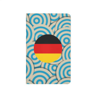 Fun Filled, Round flag of Germany Journal