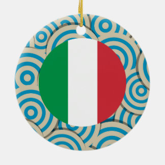 Fun Filled, Round flag of Italy Double-Sided Ceramic Round Christmas Ornament