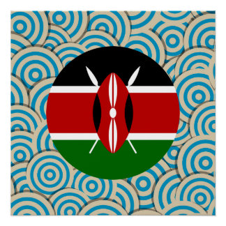 Fun Filled, Round flag of Kenya Poster