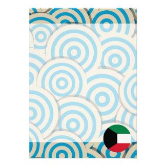 "Fun Filled, Round flag of Kuwait 5"" X 7"" Invitation Card"