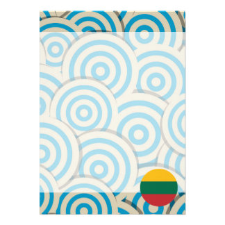 Fun Filled, Round flag of Lithuania Card