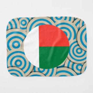 Fun Filled, Round flag of Madagascar Baby Burp Cloth