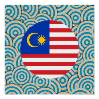 Fun Filled, Round flag of Malaysia Poster