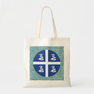 Fun Filled, Round flag of Martinique Tote Bag