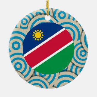 Fun Filled, Round flag of Namibia Ceramic Ornament