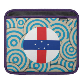 Fun Filled, Round flag of Netherlands Antilles Sleeves For iPads