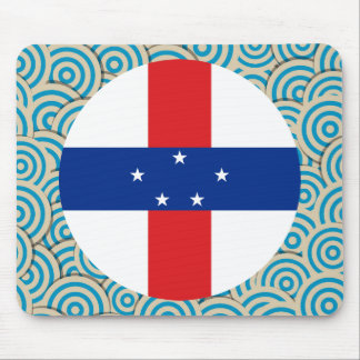 Fun Filled, Round flag of Netherlands Antilles Mouse Pad