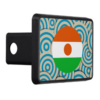 Fun Filled, Round flag of Niger Trailer Hitch Cover