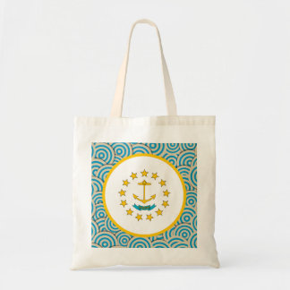 Fun Filled, Round flag of Rhode Island Tote Bag