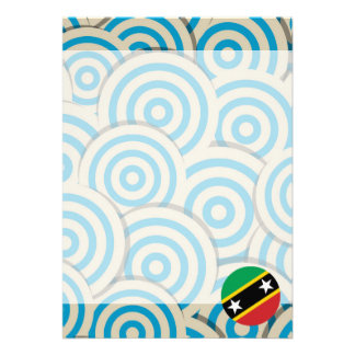 """Fun Filled, Round flag of Saint Kitts and Nevis 5"""" X 7"""" Invitation Card"""