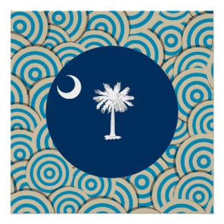 Fun Filled, Round flag of South Carolina Poster