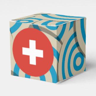 Fun Filled, Round flag of Switzerland Favor Box