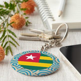 Fun Filled, Round flag of Togo Basic Round Button Keychain