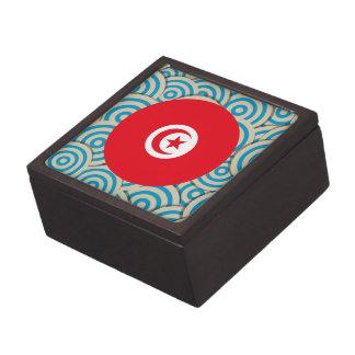 Fun Filled, Round flag of Tunisia Premium Jewelry Boxes