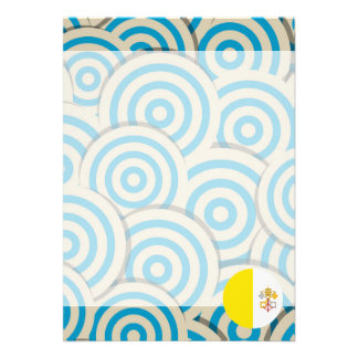 Fun Filled, Round flag of Vatican City Card