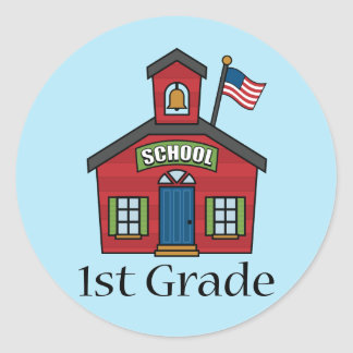 Fun First Grader School Gift Classic Round Sticker
