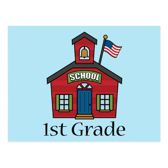 Fun First Grader School Gift Postcard
