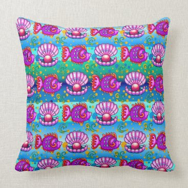 Beach Themed Fun Fish Beach Pillow