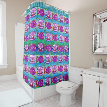 Professional Business Fun Fish Beach Shower Curtain