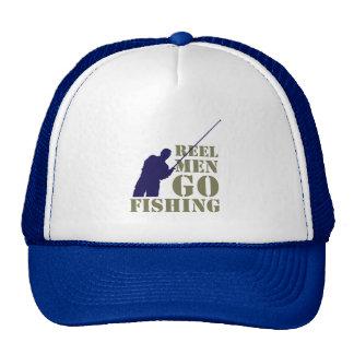 Fun fishermen message: Reel men go fishing, Trucker Hat