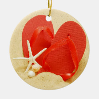 Fun Flip-Flops Ceramic Ornament
