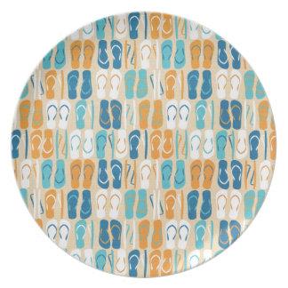 Fun Flip Flops Dinner Plate