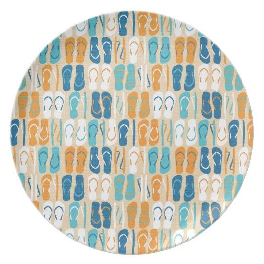 Fun Flip Flops Plate