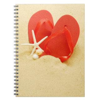 Fun Flip-Flops Spiral Notebook