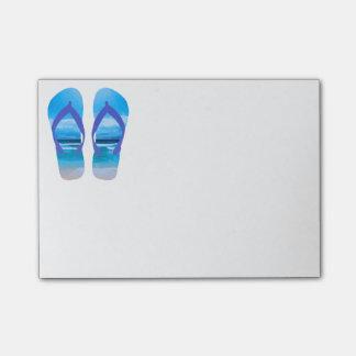 Fun Flip Flops Summer Beach Art for Vacation Post-it Notes