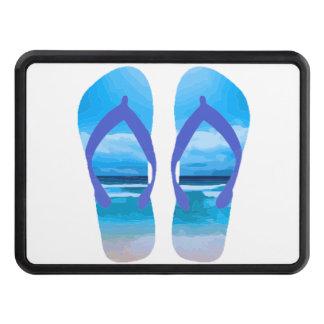 Fun Flip Flops Summer Beach Art for Vacation Tow Hitch Covers