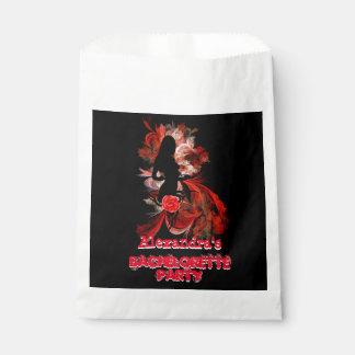 Fun flirty adult personalized bachelorette party favor bag