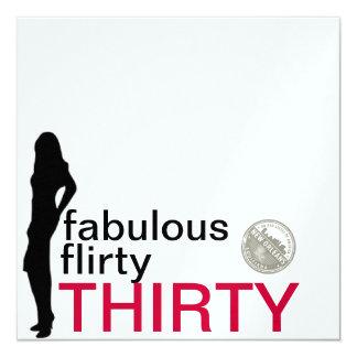Fun, Flirty, Thirty Invitations