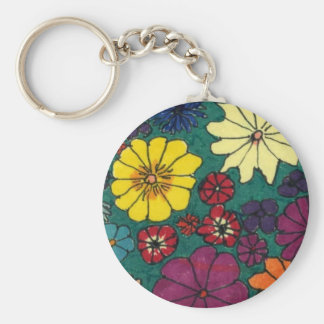 """Fun Floral #1"" Floral Keychain"