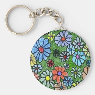"""Fun Floral #2"" Floral Keychain"