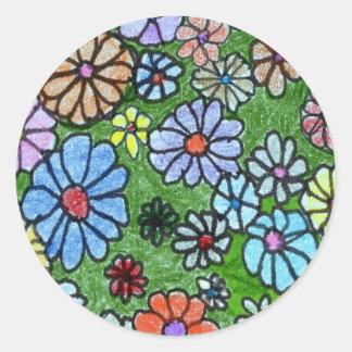 """""""Fun Floral #2"""" Floral Sticker"""