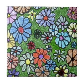 Fun Floral 2 Kitchen Garden Ceramic Tile