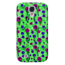 fun floral 3 casing galaxy s4 cover