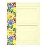 Fun Floral Bright Lined Letterhead