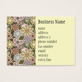 Fun Floral Chubby Business Card