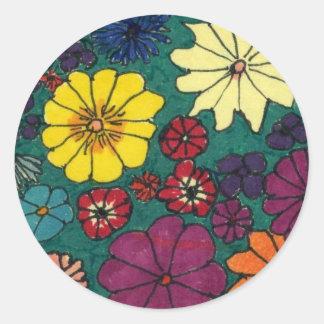 """""""Fun Floral"""" Floral Sticker"""