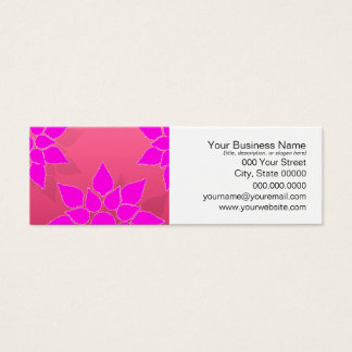 Fun Floral in Fucshia over Pink Mini Business Card