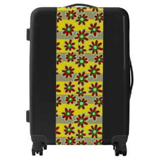 Floral Pattern Suitcases