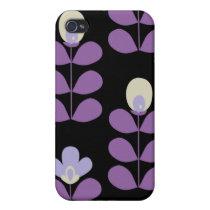 fun floral purple 4 casing iPhone 4 cover